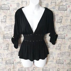 Baby phat dip V neck blouse size XS
